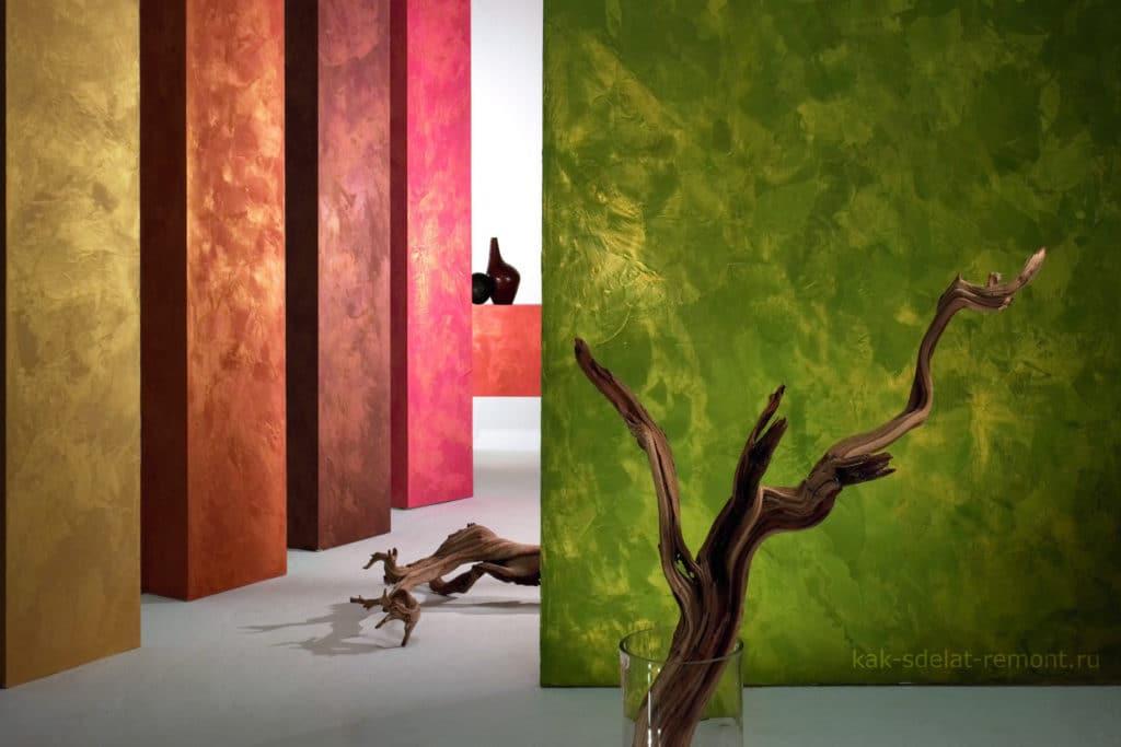 Фактурная краска для стен: виды и методы нанесения