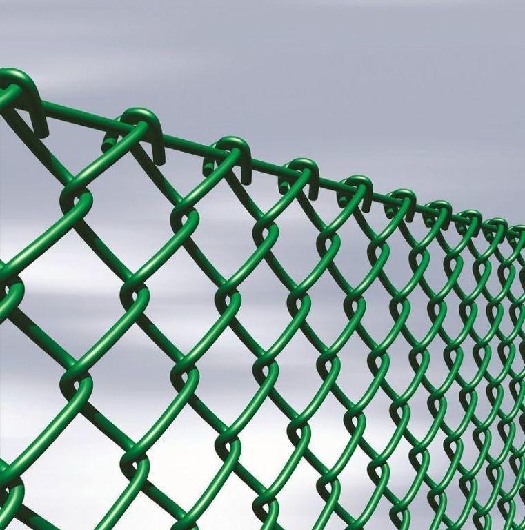рабица из металлической проволоки, сверху покрытой полимером - фото