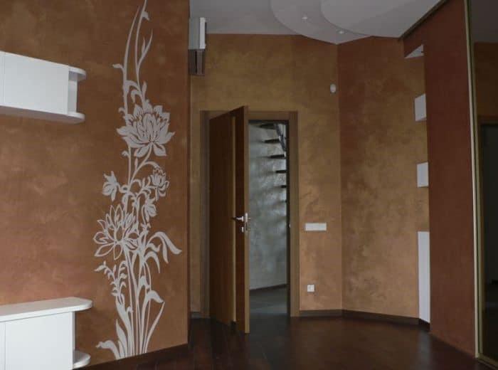 жидкие обои в коридоре - фото