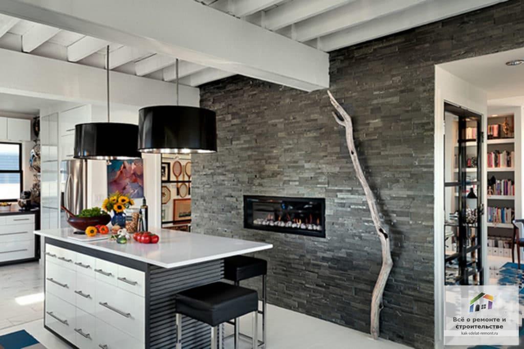 Камень в интерьере квартиры 1